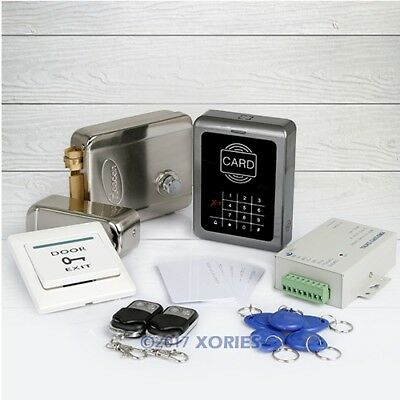 DIY RFID Card Reader Access Control System Kit with Electronic Door Lock+ Remote