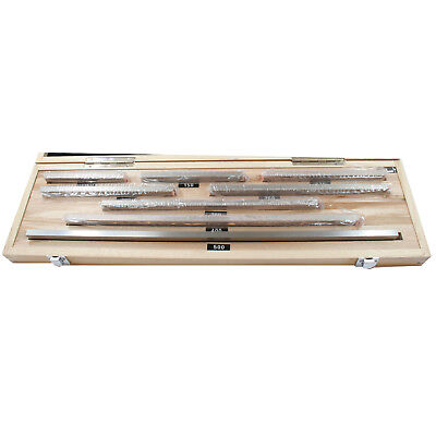 8 Piece Metric Slip Gauge Block Set Grade 0 Inspection 125 - 500mm