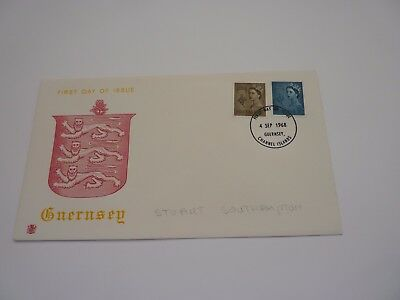 Guernsey Definitive Issue 1968 Stuart FDC