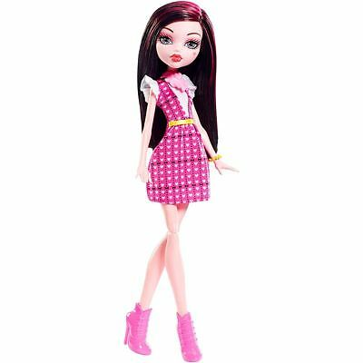 Original Draculaura Monster High Freaky Fashion Doll Pink Dress Collector Toy
