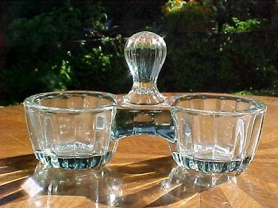 Antique French Victorian Crystal Double Salts, gl56