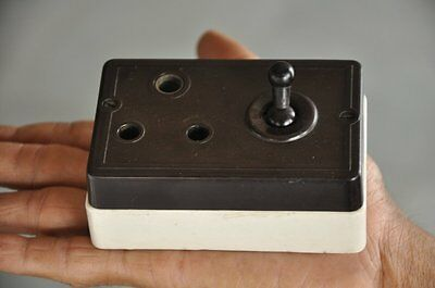 Vintage Bakelite & Ceramic Britmac Victorian Electric Plug Switch , Britain