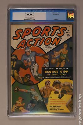 Sports Action (1950) 2 CGC 9.4 Double Cover 0010618019