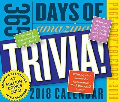 365 Days of Amazing Trivia! 2018 Page-A-Day Calendar