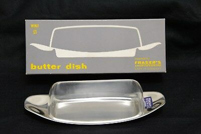 WMF Cromargan Butter Dish, Stainless Base with Acrylic Lid, Boxed.   (SLD4)