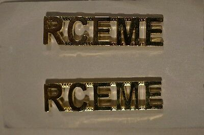 Canadian Forces RCEME Electrical Mechanical Engineers Metal Shoulder Titles