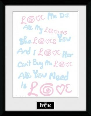 The Beatles - Lyrics Poster Plakat Gerahmt (40x30cm) #90536