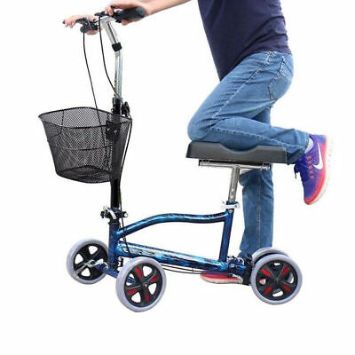 All-Road Knee Walker Steerable Madical Scooter Crutch Alternative Foldable