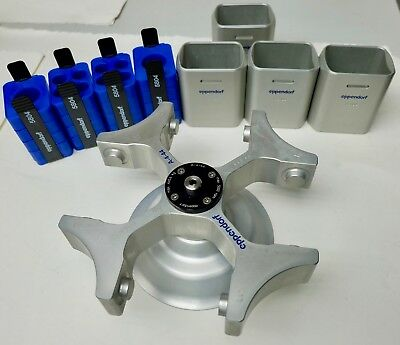 Eppendorf A-4-44 Rotor and x4 Swing Buckets 5000rpm For 5804 Centrifuge FreeShip