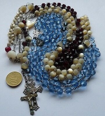 Antique Solid Silver Rosary's To Restore Lot Chapelets Anciens En Argent Massif