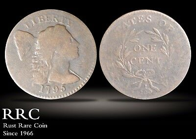 1795 Flowing Hair Cent VG+, S.76B