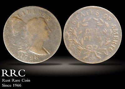 1796 Flowing Hair Large Cent VG-F, S.88