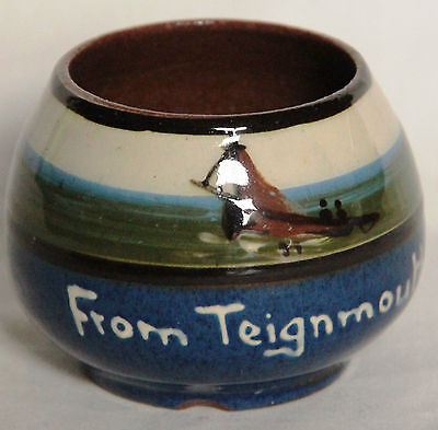 Vintage Miniature Devon Motto Ware Bowl from Teignmouth