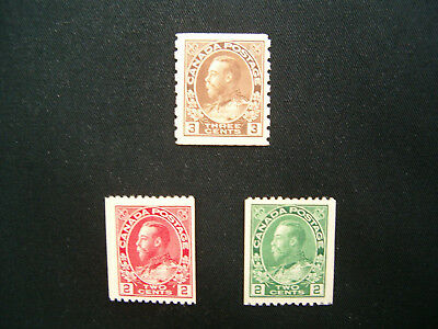 Canada, 1915-24 George V Coils MH