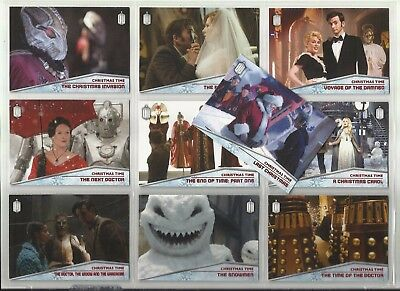 2015 Doctor Who (Topps) CHRISTMAS TIME Complete Set of 10 Cards (CT-1 to CT-10)