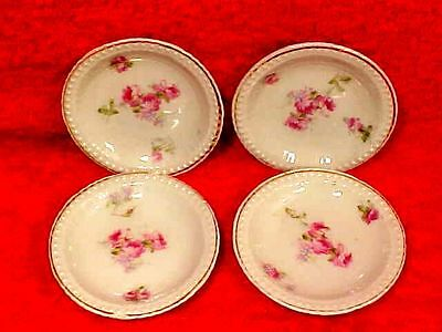 Lovely Set of 4 Antique Porcelain Austrian Butter Pats c.1904-1918, p156