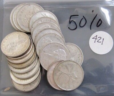 $5.00 Face Value 50% Silver Canada Twenty-Five Cents