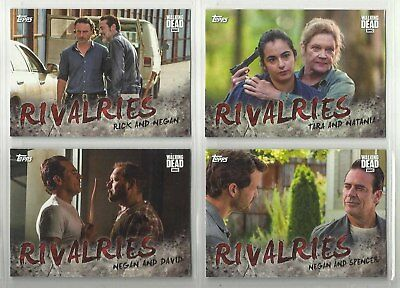 "2017 The Walking Dead Season 7 RIVALRIES ""Complete Set"" of 4 Chase Cards (R1-R4)"