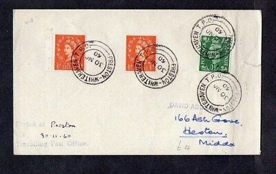 1960.COVER.'PRESTON-WHITEHAVEN TAVELLING POST OFFICE' CDS.3xSTAMPS.