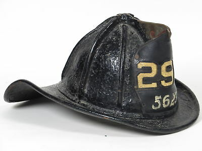 Antique Cairns & Brother Leather Fire Department FD Helmet 298 - 5623