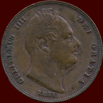 1831 Great Britian 1 Farthing Coin