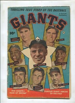 Thrilling True Stories Of The Baseball Giants (3.5) Mays Bobby Thompson Durocher