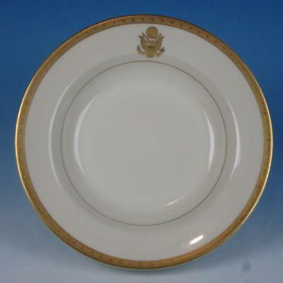 Syracuse Gold Embossed Presidential Seal Train Railroad Travel China Soup Bowl