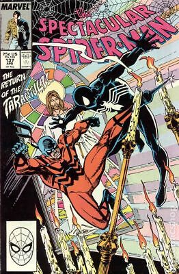 Spectacular Spider-Man (1st Series) #137 1988 FN Stock Image