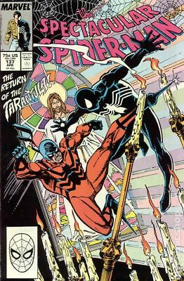 Spectacular Spider-Man (1st Series) #137 1988 VG Stock Image Low Grade