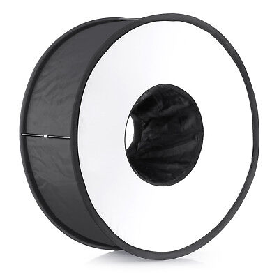 "Neewer 18"" Round Universal Collapsible Ring Flash Diffuser Soft Box for DSLR"