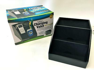 Mini Charging Valet Black~ Cell Phone~PDA~Ipod~MP3.Rings.Handheld Gaming~NEW