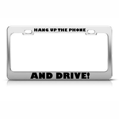 "Chrome License Plate Frame /""Tailgate Me I/'ll Drive Slower/"" Auto Accessory"