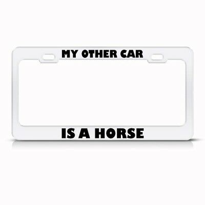 "I/""d rather be HORSEBACK RIDING License Plate Frame"