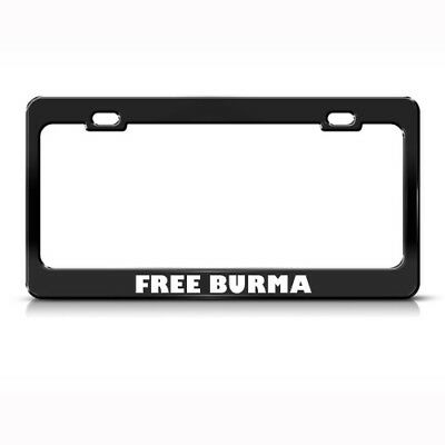 AMERICAN MUSCLE PATRIOTIC License Plate Frame Stainless Metal Tag ...