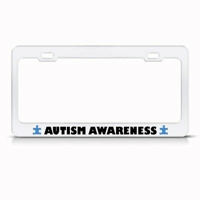AUTISM AWARENESS MOTORCYCLE License Plate Frame Tag Holder - $13.50 ...
