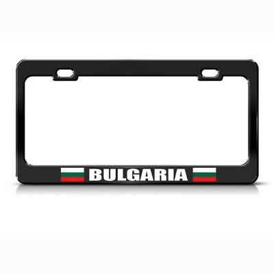 BULGARIA FLAG BULGARIAN COUNTRY Metal License Plate Frame Tag Holder