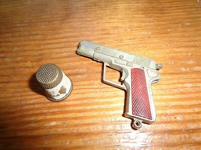 Collectible Antique Gun Replica (Non-Firing) keychain and thimble very old