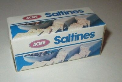 Acme Supermarkets Mini Saltines Crackers Box Package Fake Food Magnet