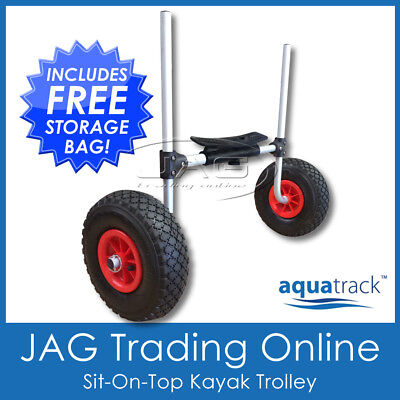 AQUATRACK SIT-ON-TOP KAYAK TROLLEY - Alloy Canoe/Ski Carrier Sand Cart Dolley