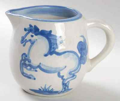 M A Hadley BLUE HORSE Oversized Creamer 2282433