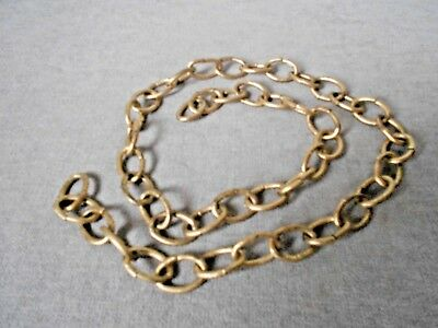 """Vintage French Gilded Metal Chain for Ceiling hanging  fixtures 31""""long"""