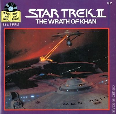 Star Trek II The Wrath of Khan Book and Record #462R 1983 VG- 3.5 Stock Image