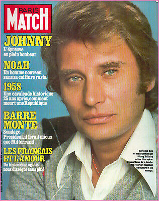 johnny hallyday paris match magazines lot de 3x picclick ca. Black Bedroom Furniture Sets. Home Design Ideas