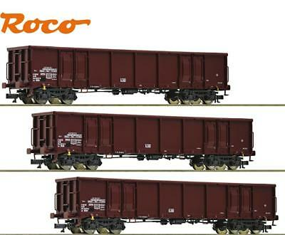 "Roco TT 35018-2 Freight Car Set The Dr 3-teilig "" Novelty 2017 "" - NEW"