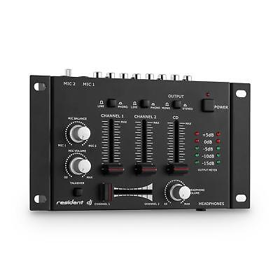 Dj/pa 3/2-Kanal Hifi Stereo Mischpult/mixer Rack Anlage Black Talkover Funktion