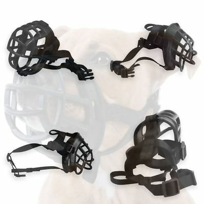 Basket Ultra Adjustable Padded Dog Puppy Muzzle Plastic Rubber TPR ALL SIZES