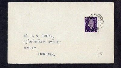 1938.COVER.'CALEDONIAN TRAVELLING POST OFFICE DAY UP' CDS.GEO VI 3d VIOLET F.D.I