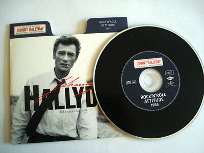 Cd Johnny Hallyday Rock N Roll Attitude 1985 Single