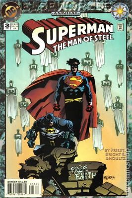 Superman The Man of Steel Annual #3 1994 VG Stock Image Low Grade