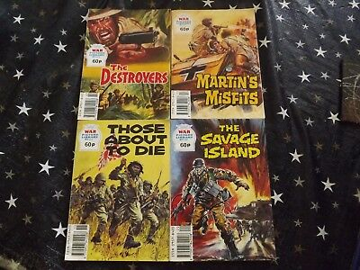 Four War Picture Library Comics - 322, 317, 315, 320